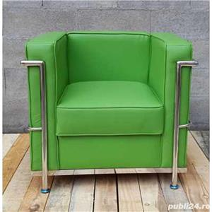 Canapea si fotoliu din piele sau piele ecologica, bar, pub, club, acasa, cabinet, sala asteptare - imagine 15