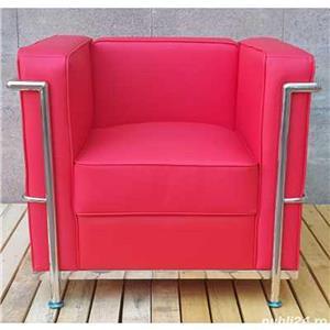 Canapea si fotoliu din piele sau piele ecologica, bar, pub, club, acasa, cabinet, sala asteptare - imagine 19