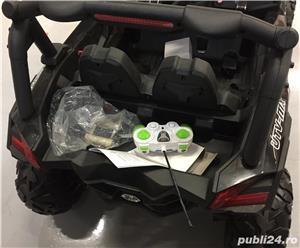 UTV Electric pentru 2 copii Rocker 4x4 24V echipata PREMIUM #Negru - imagine 5