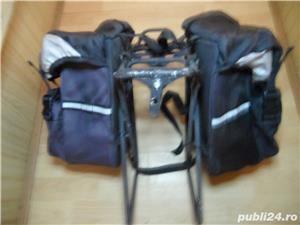 Portbagaj bicicleta cu gentute - imagine 1