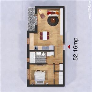 Giroc - 2 cam -bl. nou- Et 1-la cheie- 1 loc de P - 62.000 Euro - imagine 3