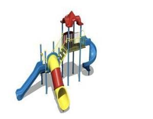 Ansamblu de joaca pentru copii topogan spirala , leagan dublu  - imagine 6