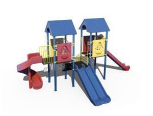 Ansamblu de joaca pentru copii topogan spirala , leagan dublu  - imagine 8