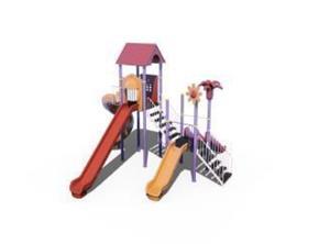 Ansamblu de joaca pentru copii topogan spirala , leagan dublu  - imagine 7