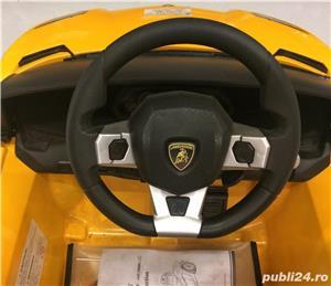Kinderauto Lamborghini Aventador LP 700-4, Mp3, LED NOU #Galben - imagine 8