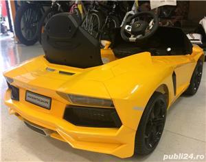 Kinderauto Lamborghini Aventador LP 700-4, Mp3, LED NOU #Galben - imagine 4