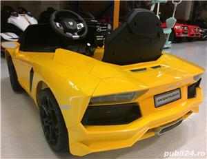 Kinderauto Lamborghini Aventador LP 700-4, Mp3, LED NOU #Galben - imagine 3
