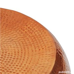 vidaXL Măsuță de cafea, aluminiu bătut la ciocan, culoare cupru/alamă 242323 - imagine 2