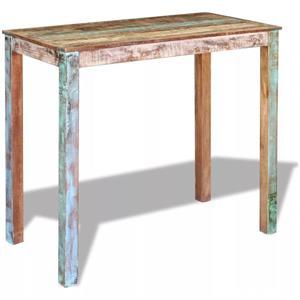 vidaXL Masă de bar, lemn reciclat de esență tare, 115x60x107 cm 243453 - imagine 3