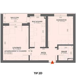 Plaza Residence Apartament 2 camere - imagine 2