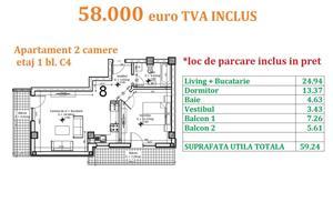 Apartament 2 camere Otopeni central  - imagine 14