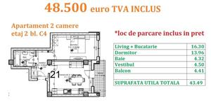 Apartament 2 camere Otopeni central  - imagine 18