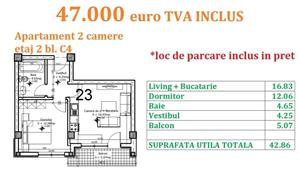 Apartament 2 camere Otopeni central  - imagine 19