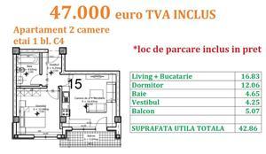 Apartament 2 camere Otopeni central  - imagine 16