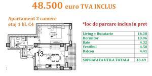 Apartament 2 camere Otopeni central  - imagine 15