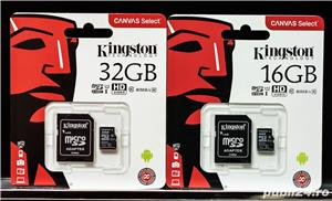 Card Memorie Kingston Micro SD 16GB Model No. 80mb/s Clasa 10.  - imagine 4