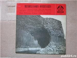 vinil /vinyl Mendelssohn Overtures - conductor  Carl Schuricht 1959,made UK - imagine 3