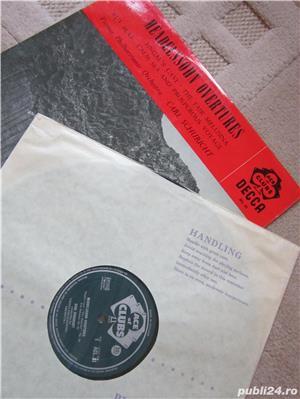 vinil /vinyl Mendelssohn Overtures - conductor  Carl Schuricht 1959,made UK - imagine 1