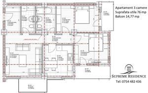 Apartament 3 camere, 76 mp utili,  Doamna Stanca, COMISION 0% - imagine 9