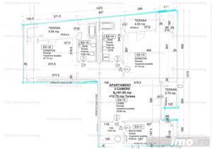 Apartament 3 camere, 92 mp utili si terase 13 mp, Grivita-Turda, 157.000 EUR + TVA - imagine 16
