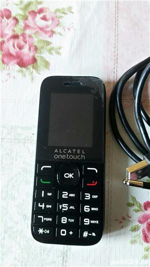 Telefon mobil ALCATEL , simplu ,nou, dualsim , negru - imagine 2
