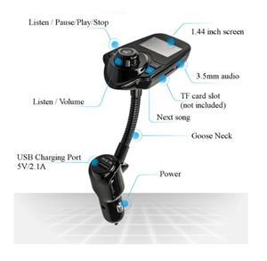 Car Kit Auto Functie de modulator FM ,Bluetooth T10 - imagine 9