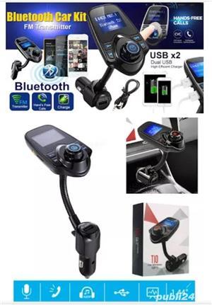Car Kit Auto Functie de modulator FM ,Bluetooth T10 - imagine 2