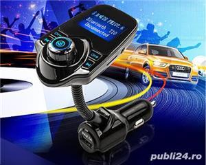 Car Kit Auto Functie de modulator FM ,Bluetooth T10 - imagine 3