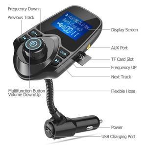 Car Kit Auto Functie de modulator FM ,Bluetooth T10 - imagine 8