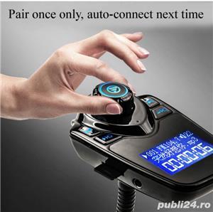 Car Kit Auto Functie de modulator FM ,Bluetooth T10 - imagine 5