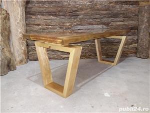 Masa cafea lemn masiv nuc - imagine 7