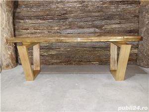 Masa cafea lemn masiv nuc - imagine 9