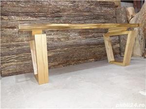 Masa cafea lemn masiv nuc - imagine 6