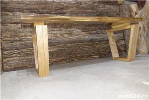Masa cafea lemn masiv nuc - imagine 3