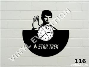 Ceas de perete din vinil Star Trek - Spock - imagine 1