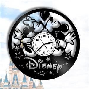 Ceas de perete din vinil Mickey Mouse - Disney - imagine 3