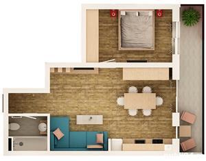 Apartament cu 2 camere finisat la cheie, Turnisor - imagine 7