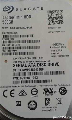disc drive sata lll seagata laptop thin hdd 500/5400rpm - imagine 1