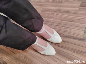 Pantofi de mireasa ivoire din piele - imagine 5