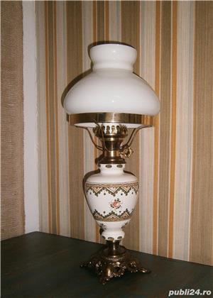 Lampadar vechi cu picior din portelan si bronz (Lampa/Veioza) - imagine 2