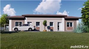 SUPEROFERTA ! Duplex, proiect nou, la asfalt, toate utilitatiile, la cheie, Terasa, teren 400mp.  - imagine 2