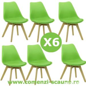 Set 6 scaune de living si bucatarie in stil scandinav-Transport Gratuit - imagine 3