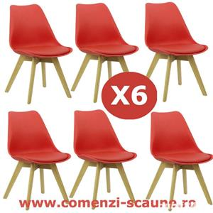 Set 6 scaune de living si bucatarie in stil scandinav-Transport Gratuit - imagine 2