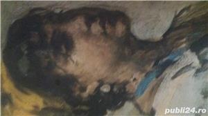 Tablou pe pinză in ulei  de Grigorescu  Fata cu basma galbenă - imagine 2