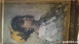 Tablou pe pinză in ulei  de Grigorescu  Fata cu basma galbenă - imagine 4