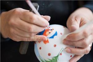 Pictură globuri curs 3 ore/ tablouri pe pânză la sevalet,  oua de paști, icoane  - imagine 1