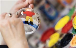 Pictură globuri curs 3 ore/ tablouri pe pânză la sevalet,  oua de paști, icoane  - imagine 4