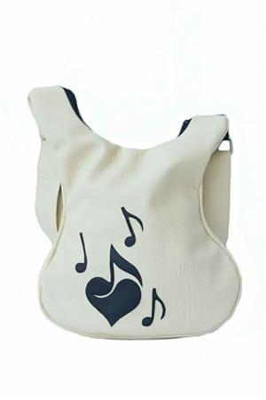 Geanta Ivory decorata cu note muzicale - imagine 1