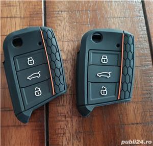 Husa Silicon pt Cheie VW GOLF 7, Passat B8,Polo,Arteon,Seat Leon.Skoda,Noua - imagine 1