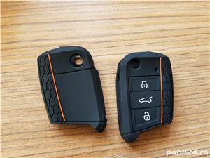 Husa Silicon pt Cheie VW GOLF 7, Passat B8,Polo,Arteon,Seat Leon.Skoda,Noua - imagine 2